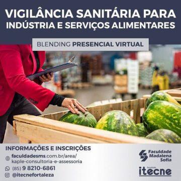 Curso de Pós-graduação em Vigilância Sanitária para Indústria e Serviços Alimentares